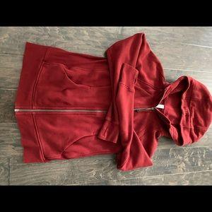 Lululemon scuba sweat jacket, maroon sz 8